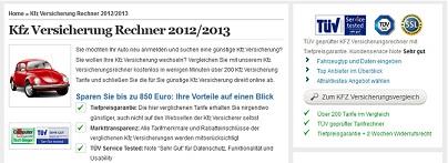 KFZVersicherungsrechner 2012-2013